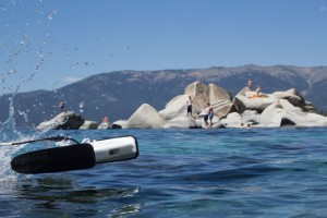 New Open ROV test in Tahoe. image: OpenROV