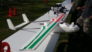 Our UAVs next to the Sherriff's Department's