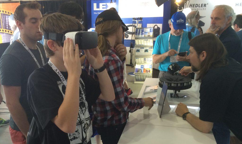 GoPro's VR goggle demo.